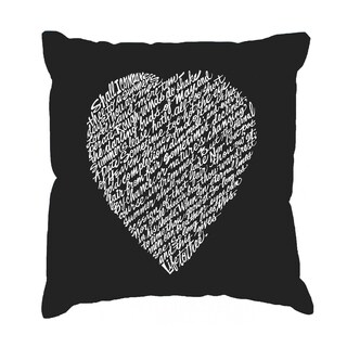 LA Pop Art William Shakespeare Sonnet 18 17 -inch Throw Pillow Cover