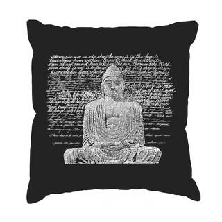 LA Pop Art Zen Buddha Cotton 17-inch Throw Pillow Cover