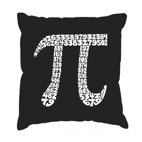 LA Pop Art The First 100 Digits of Pi 17-inch Throw Pillow Cover