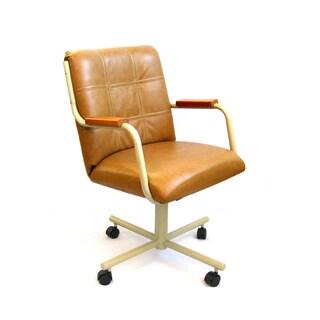 Caster Chair Company C84 Meadow Swivel Tilt Caster Arm Chair in Buff Polyurehane