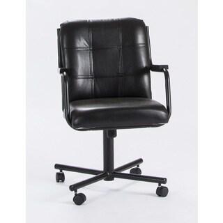 Caster Chair Company C96 Chris Swivel Tilt Caster Arm Chair Black Vinyl
