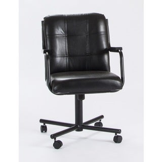 Caster Chair Company C96 Chris Swivel Tilt Caster Arm Chair Black Vinyl