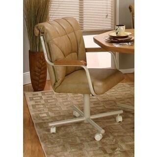 Caster Chair Company C96 Cindy Swivel Tilt Caster Arm Chair in Buff Polyurethane
