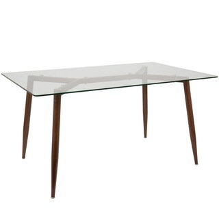"LumiSource Clara 59"" Mid-Century Modern Dining Table"