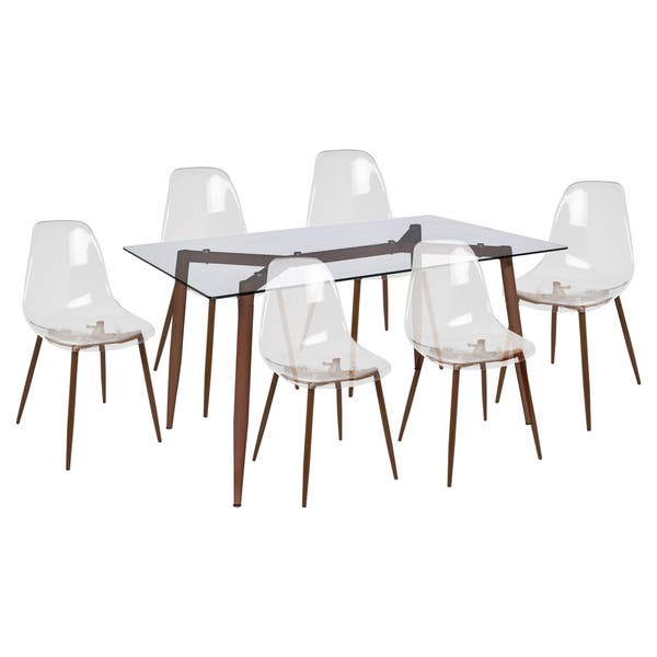 Stupendous Shop Lumisource Clara Metal And Glass Mid Century Modern 7 Ncnpc Chair Design For Home Ncnpcorg