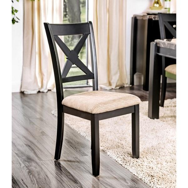 Furniture Of America Dasni Transitional X-back Fabric
