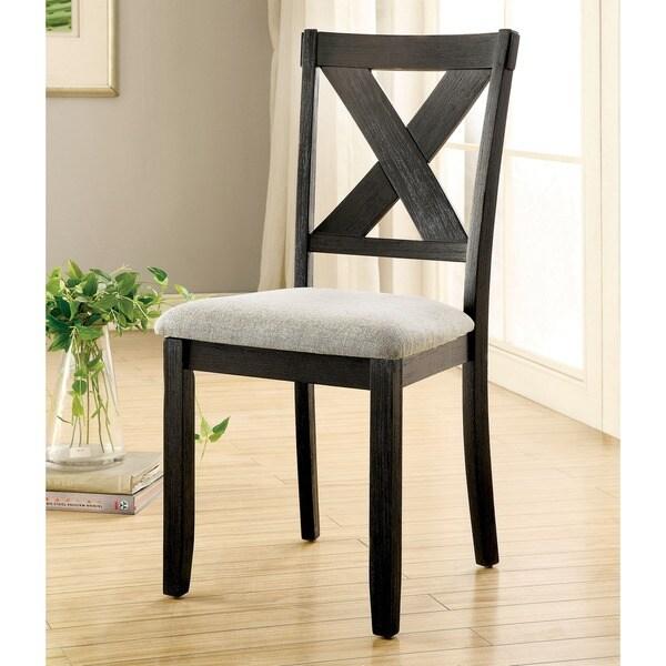 Transitional Dining Room Furniture: Shop Furniture Of America Dasni Transitional X-back Fabric