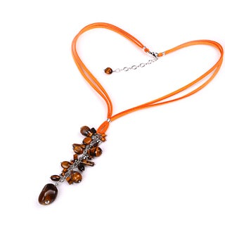 Sterling Silver 19.11ct Tiger Eye Beaded Necklace