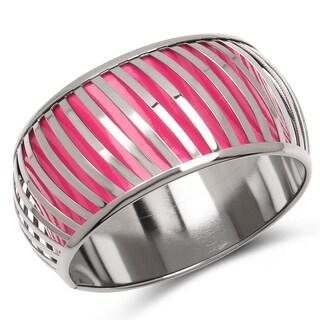 Liliana Bella Oxidised Pink and Silver Tone Bangle Bracelet