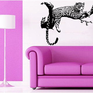 Link to Leopard Relaxing On A Tree Wild Animals Vinyl Sticker Art Mural Kids Room Interior Desig Sticker Decal size 33x33 Color Black Similar Items in Vinyl Wall Art