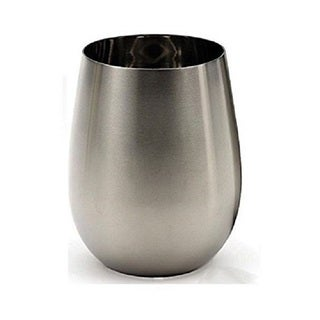 RSVP Endurance Stainless Steel Stemless Wine Glass