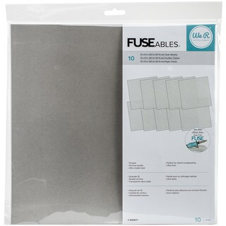 "We R FUSEables Fuse Clear Sheets 12""X12"" 10/Pkg-"