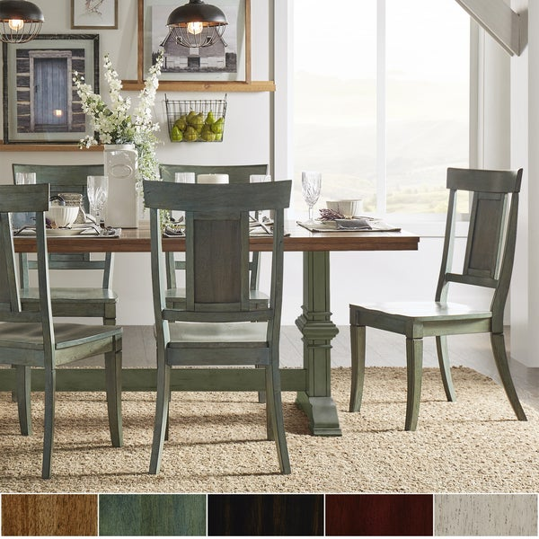 Get Free High Quality HD Wallpapers Farmhouse 5 Piece Two Tone Dining Set