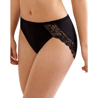 Bali Women's Lace Desire Microfiber Hi-cut Brief