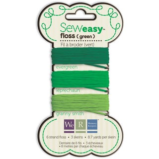 Sew Easy Solid 6-Strand Floss 8.7yd 3/Pkg-Green
