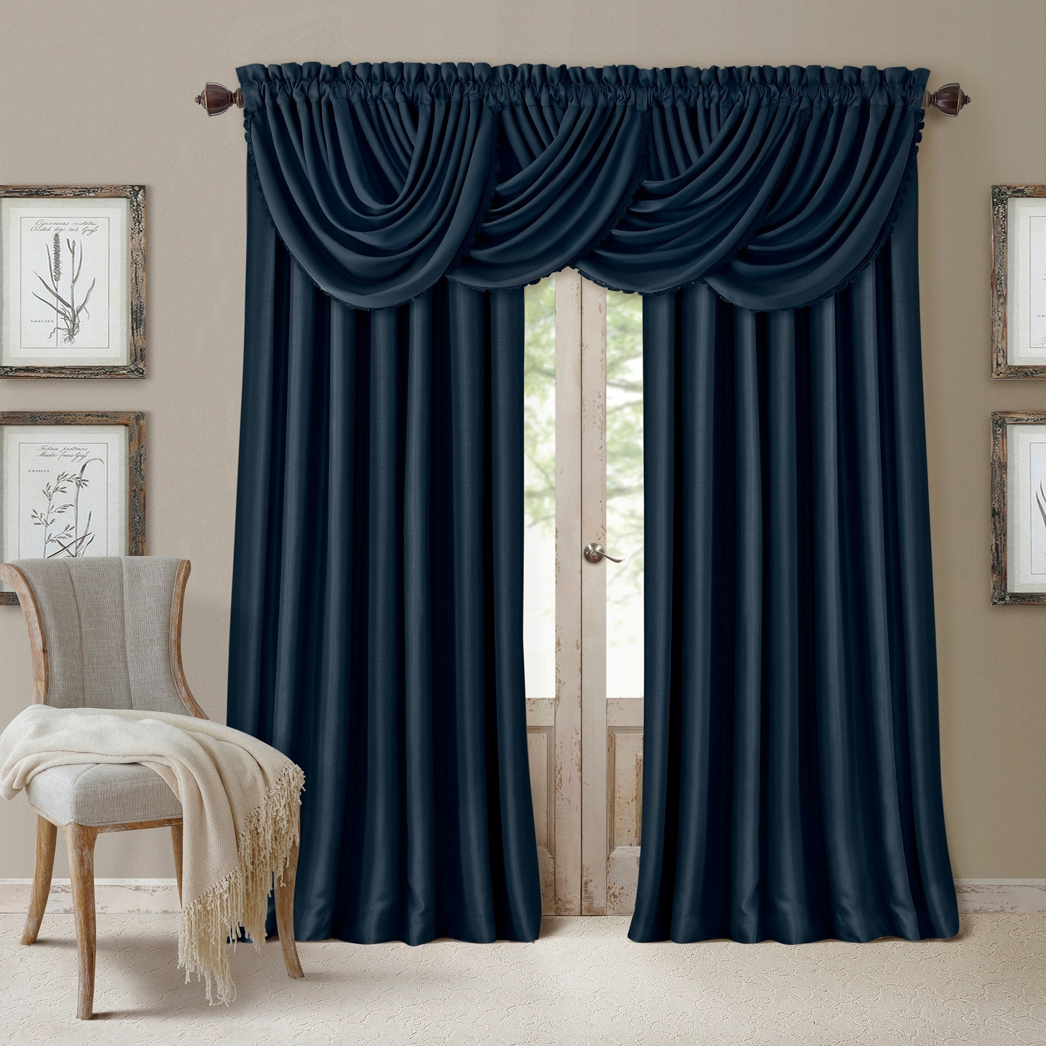 Shop Black Friday Deals On All Seasons Waterfall Window Valance 52 X36 Overstock 14741344