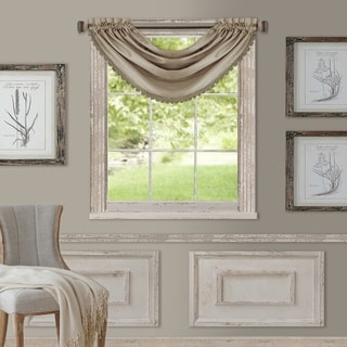 Elrene All Seasons Polyester Blend Waterfall Valance (Option: Taupe)