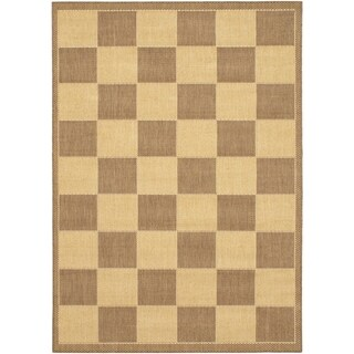 ecarpetgallery Alicante Brown, Ivory Hemp Rug (5'3 x 7'6)