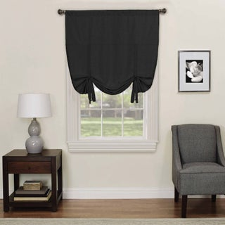 Eclipse Kendall Blackout Window Tie-up Shade (Option: 42X63 - Black)
