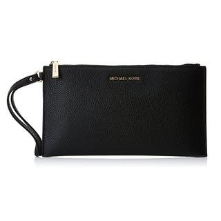 Michael Kors Mercer Pebble Large Black Zip Clutch|https://ak1.ostkcdn.com/images/products/14741398/P21268394.jpg?impolicy=medium