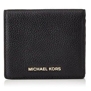 Michael Kors Mercer Black Carryall Card Case Wallet