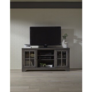 Dillworth Distressed Grey 66-Inch Entertainment Center