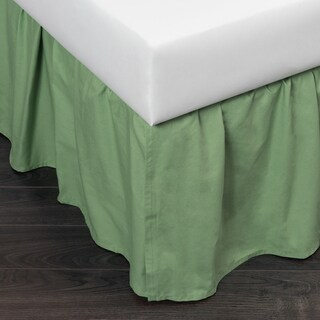 Green Brighton Cotton 24-inch Drop Bed Skirt