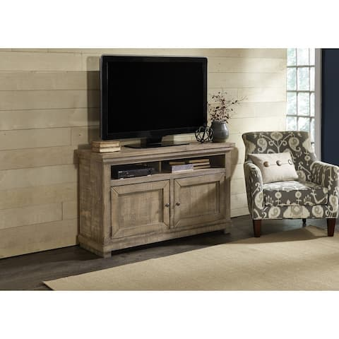 Willow Distressed Grey Entertainment Center