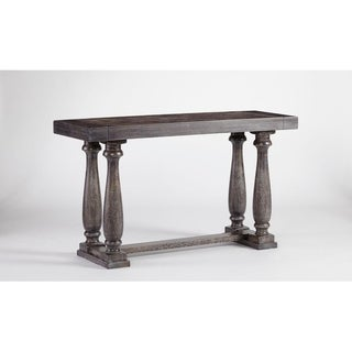 Muse Distressed Grey Trestle Base Sofa Table