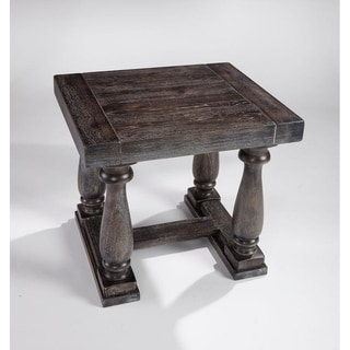 Muse Distressed Grey End Table