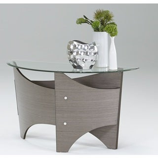 Tristar Silver Grey Sofa Table with Glass Top