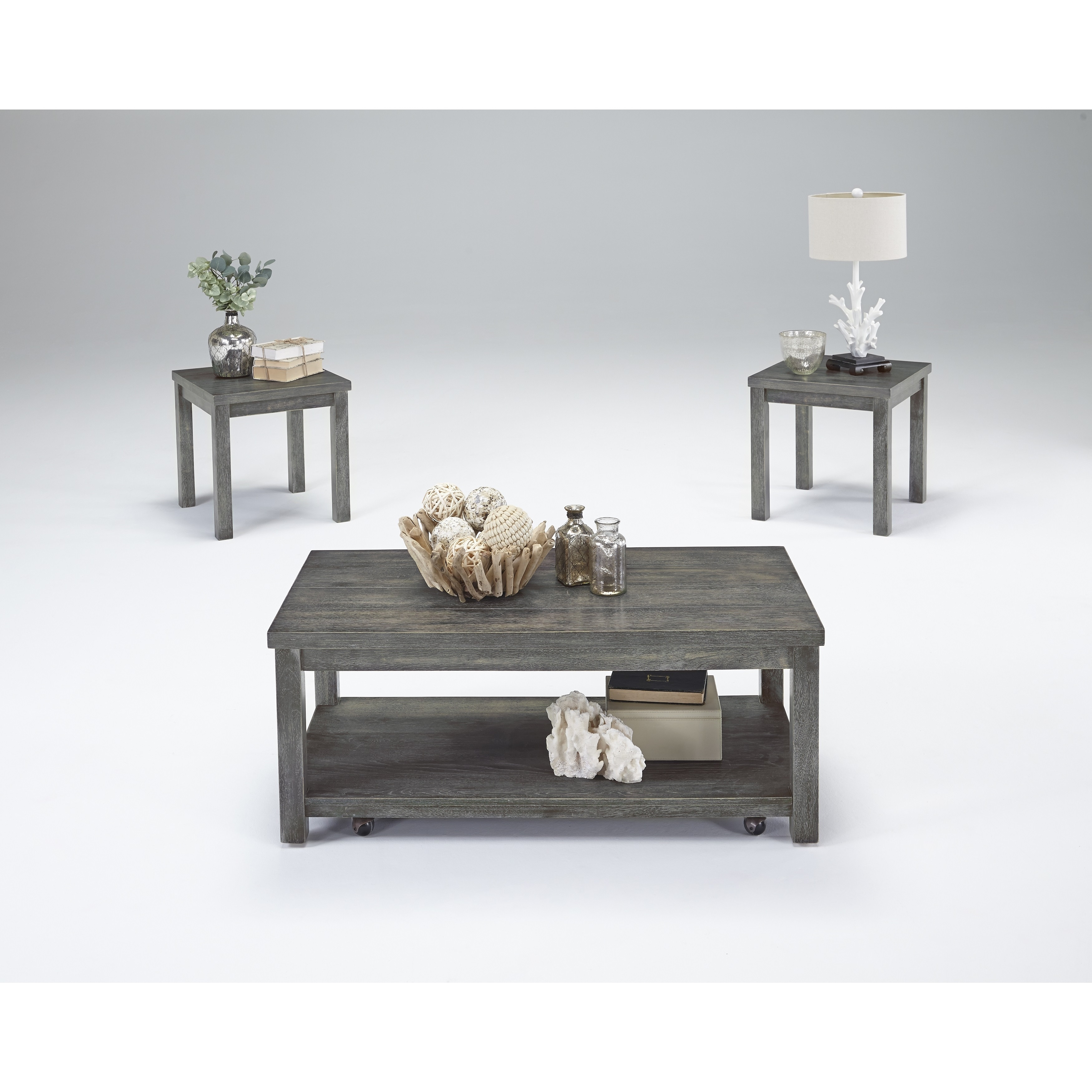 Astonishing Silverton Ii Grey Cocktail And Side Tables Set Of 3 Andrewgaddart Wooden Chair Designs For Living Room Andrewgaddartcom