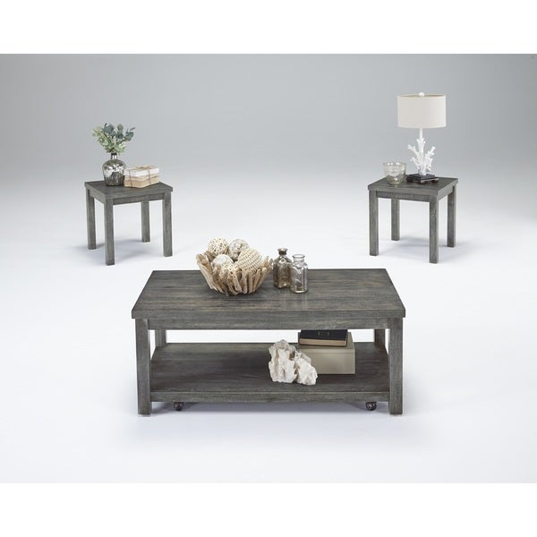 Silverton II Grey Cocktail and Side Tables (Set of 3)