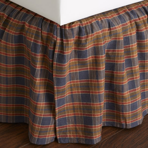 gingham bed skirt - free shipping today - overstock - 21268534