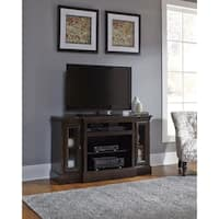 Andover Court Distressed Brown Entertainment Center