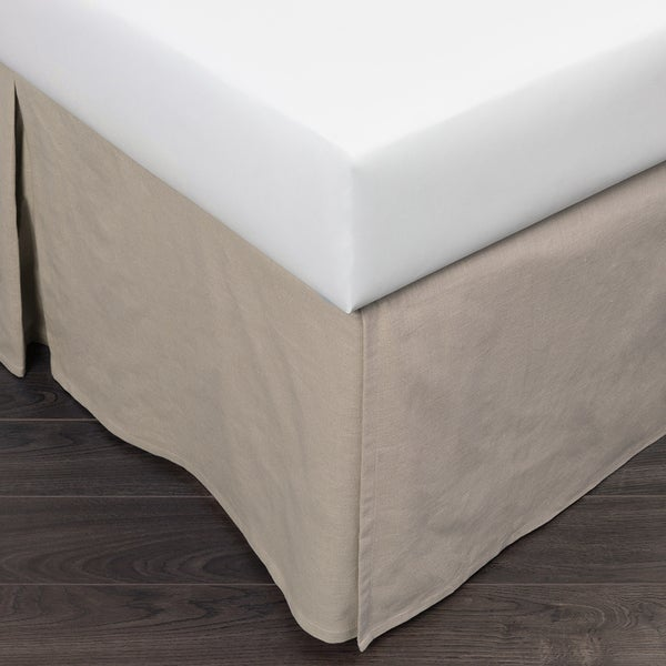 Paige Khaki Queen 18-inch Drop Bed Skirt