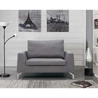 US Pride Furniture Modern Rainbeau Removable Reversible Seat Cushions and Back Pillow Loveseat