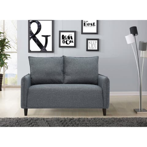 US Pride Furniture Kathleen Contemporary Linen Fabric Upholstery Loveseat
