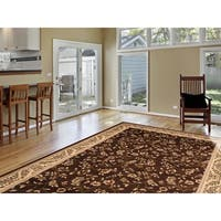 Brown Floral Transitional Indoor Area Rug (2' x 3') - 2' x 3'
