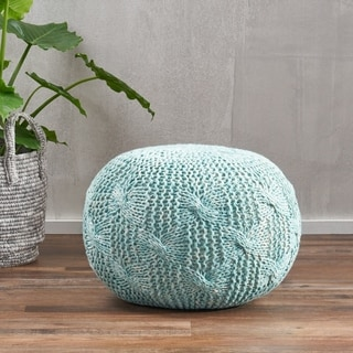 Christopher Knight Home Fabric Deon Indoor/Outdoor Round Ottoman Pouf