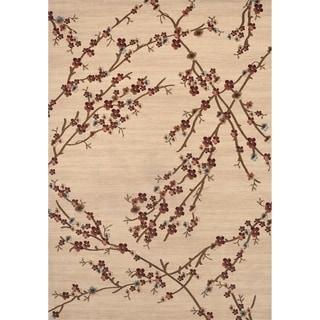 """Floral Branches Beige Indoor Area Rug (5'3"""" x 7'3"""")"""