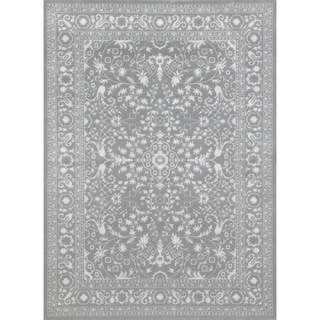Traditional Framed Floral Indoor Area Rug (5'3 x 7'3)