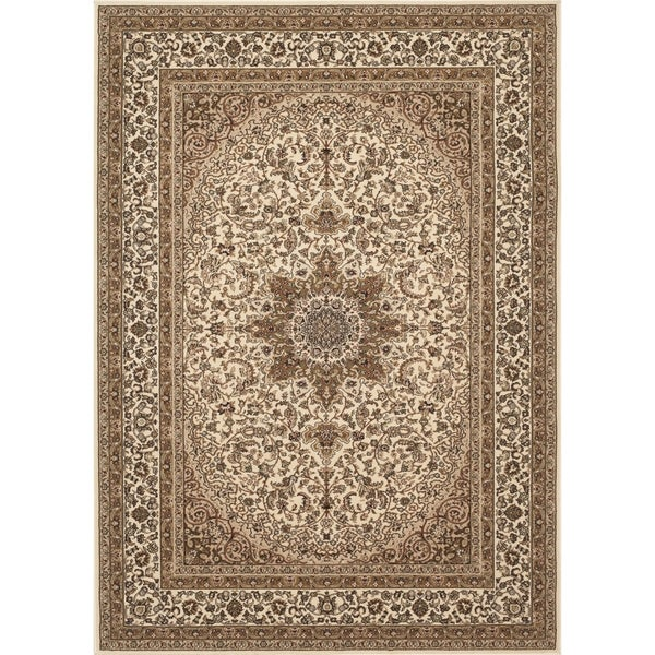 "Traditional Oriental Medallion Indoor Area Rug (7'10x10'2) - 7'10"" x 10'2"""