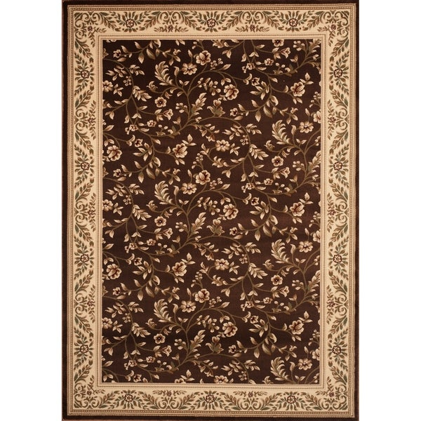 """Floral Transitional Indoor Area Rug (7'6""""X9'5"""") - 7'10"""" x 10'2"""""""