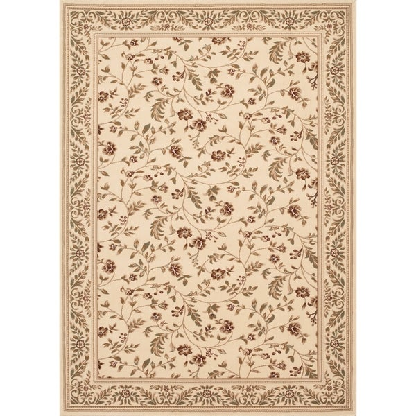 "Floral Transitional Indoor Area Rug (7'6""X9'5"") - 7'6"" x 9'6"""