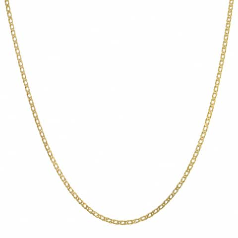 Fremada 10k Yellow Gold 2-mm Diamond Weave Chain Necklace