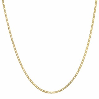 Fremada 10k Yellow Gold 2-mm Diamond Weave Chain Necklace