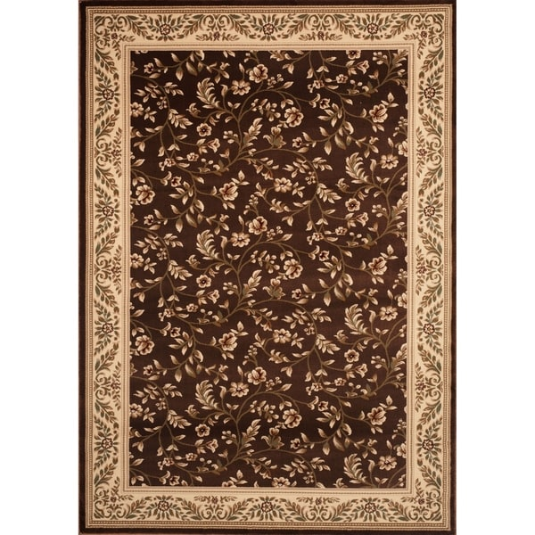 Floral Transitional Indoor Area Rug - 9' x 12'