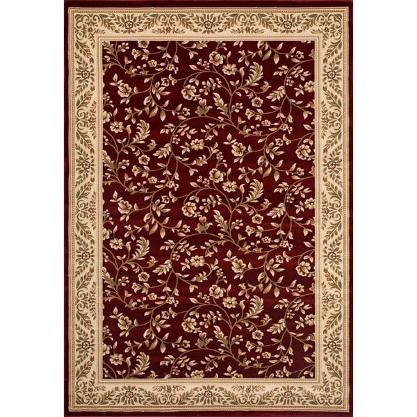 Floral Transitional Indoor Area Rug (9'x12') - 9' x 12'