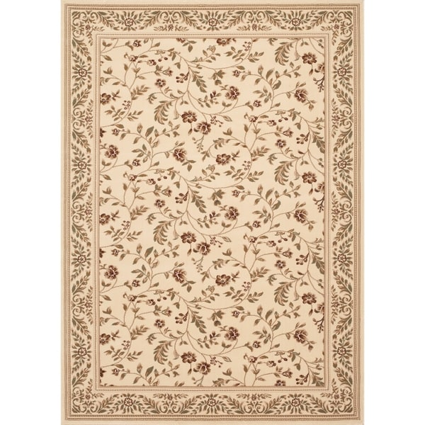 Floral Transitional Indoor Area Rug (9' x 12')